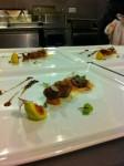 Squab / Candy Stripe Fig / Benton's Ham / Onion / Radish / Cocoa Nibs