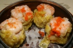 Steamed Fresh Shrimp Siu Mai with Fish Roe