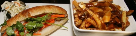 Fuel House Toronto Pork Belly Bahn Mi $7.50 and Poutine $5.50