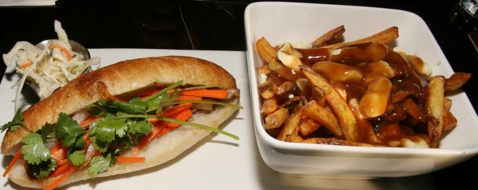 Pork Belly Bahn Mi and Poutine