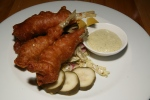 SIDECAR RESTAURANT – Beer Battered Smelt – served with house made dill pickle, cole slaw, orange and tartar sauce $12