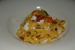SIDECAR RESTAURANT – Tagliatelle – Fresh Tagliatelle, Montforte's sheep's milk feta, cherry tomatoes, banana peppers and Tarragon $16