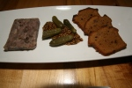 SIDECAR RESTAURANT – Duck Confit Terrine – Spiced with four spice ad pink pepper. Served with gingerbread and cornichon. $14