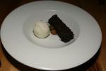 SIDECAR RESTAURANT – Dark & Stormy Brownie – Ginger ganache, lime sorbet $9