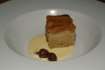 SIDECAR RESTAURANT – Caramel Apple Upsidedown Cake – Vanilla ice cream, raw honey $*