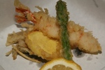 Assorted tempura Asparagus, potato and fresh shrimp