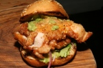 The County General Fried Chicken Thigh Sandwich Buttermilk Chicken, Milk Bun, Avocado Chutney Coriander and Green Onion $12
