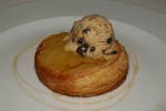 Honeycrisp Apple Kouign Amann/caramelized puff pastry/prune & Armagnac ice cream apple cider reduction