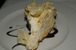 Coconut Cream Pie white chocolate shaving/dark chocolate sauce $13