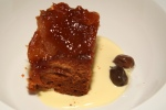 Caramel Apple Upsidedown Cake- Crème Anglaise.
