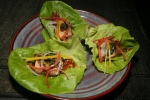 Pork Ssam ssam jang, marinated corriander, bib lettuce, Chili paste $7