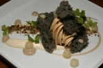 Quebec Foie Gras - black benne brioche, milk jam, banana pudding and preserved pears $17