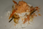 Carrot & Coconut - pecan streusel, coconut curd, maple sugar, buttermilk snow $9