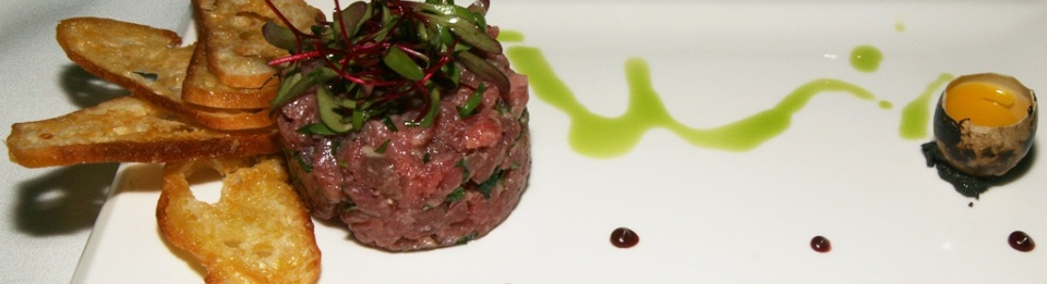 LAB Restaurant Italian beef tenderloin tartare with truffle, and parmesan