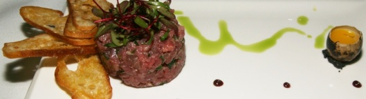 Italian beef tenderloin tartare with truffle, and parmesan