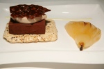 Chocolate Bar Frozen dark chocolate marquise brown sugar cocoa nib meringue caramelized vanilla poached pear $10.