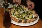 Pizzeria Libretto Danforth Brussels Sprouts bomba, garlic, balsamic, bufala ricotta, mozzarella