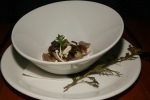 Mushroom Broth - Wild Mushrooms, Chestnut Agnolotti, Sherry Kombucha