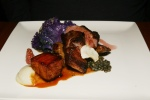Whey Brined Niagara Pork Loin & Apple Cider Glazed Belly, Lentils, Kale, Sunchoke, Bullberry Mustard