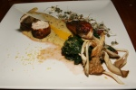 Rhode Island White Chicken, Amaranth & Quinoa Polenta, Smoked Mushroom, Chard, Preserved Lemon