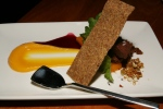 Raw Dark Chocolate Mousse, Pumpkin & Hibiscus - $12
