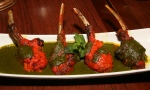 lamb 'lollipops' grilled lamb chops with mint & fenugreek & sauce $19