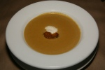 Spiced Ripe Plantain Soup with Five Spice & Chili Foie Gras Torchon $11