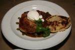 Roasted Nagano Pork Loin, Beans, Poached Egg, Cilantro Mojo, Arepa $24
