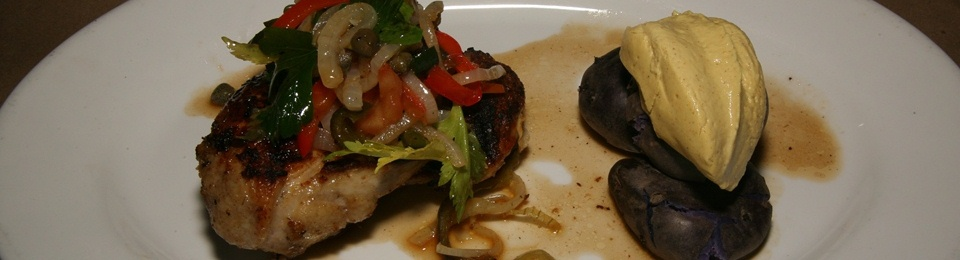 Grilled Cornish Hen with Potatoes, Escabeche, Huancaina Sauce $24