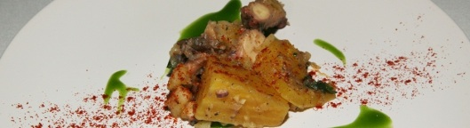 Huevos con patate, maitake y ramp [Bilbao]