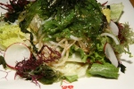SEAWEED SALAD - Marinated seaweed on greens