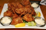 KARAAGE - Deep fried soy sauce marinated chicken served with garlic mayo
