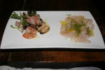 Insalata di Mare e Carpaccio di Cernia Seafood salad and grouper carpaccio