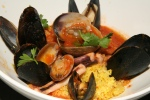 Cons Cons di Pesce alIa Siciliana Traditional Sicilian recipe of cous cous with seafood and light tomato sauce