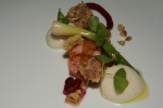 Cured B.C. Steelhead Trout - Confit Baby Leek, Buckwheat, Walnut & Muskoka Cream Ale