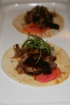 Pulled Duck Tacos - Pickled Carrots, Scallions, Hoisin Sauce