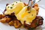 Barque Benedict with Cornbread, Brisket, BBQ Hollandaise (Photo © Barque.ca unknown photographer)