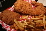 Smoked Fried Chicken Dinner (3 pieces) $9.99 (includes one side your choice and a can of soda) Wednesdays only at Whitby location only (Good food lovers only, not for Vegans)