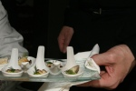 11. Smoked eel with crème fraȋche