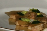 28. Celery root sandwich with chicken rillette and watercress
