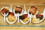 70. Smoked boar bacon with maple and apples
