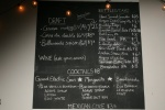 The Blackboard Bar Menu