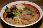 Miso Ramen $9.50 soybean paste, Kinton pork, beansprout, onion, scallion, corn, garlic oil, regular soup, pork shoulder