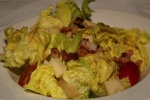 DES ALPES – Boston lettuce, shallot vinaigrette, egg, Emmenthal & bacon $8