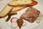 PRESSÉ DE JARRET DE PORC – pork hock pâté with gherkins, onions & shallots $8