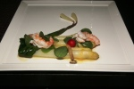 Ontario's Jannsen Farms White Asparagus lightly poached B.C. Spot Prawns Honey Mushrooms Nasturtiums Ramps