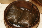 Steamed Glutinous Rice wrapped with Lotus Leaf