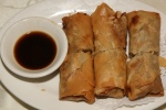 Deep Fried Spring Rolls with Taro & Pork Filling
