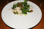 Maitaki Mushrooms - english peas, white asparagus, basil, white mulberry, shaved foie gras $14