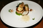 Prawn Stuffed Chicken Leg - fried chicken liver, spring onion, maple syrup, hazelnut $25